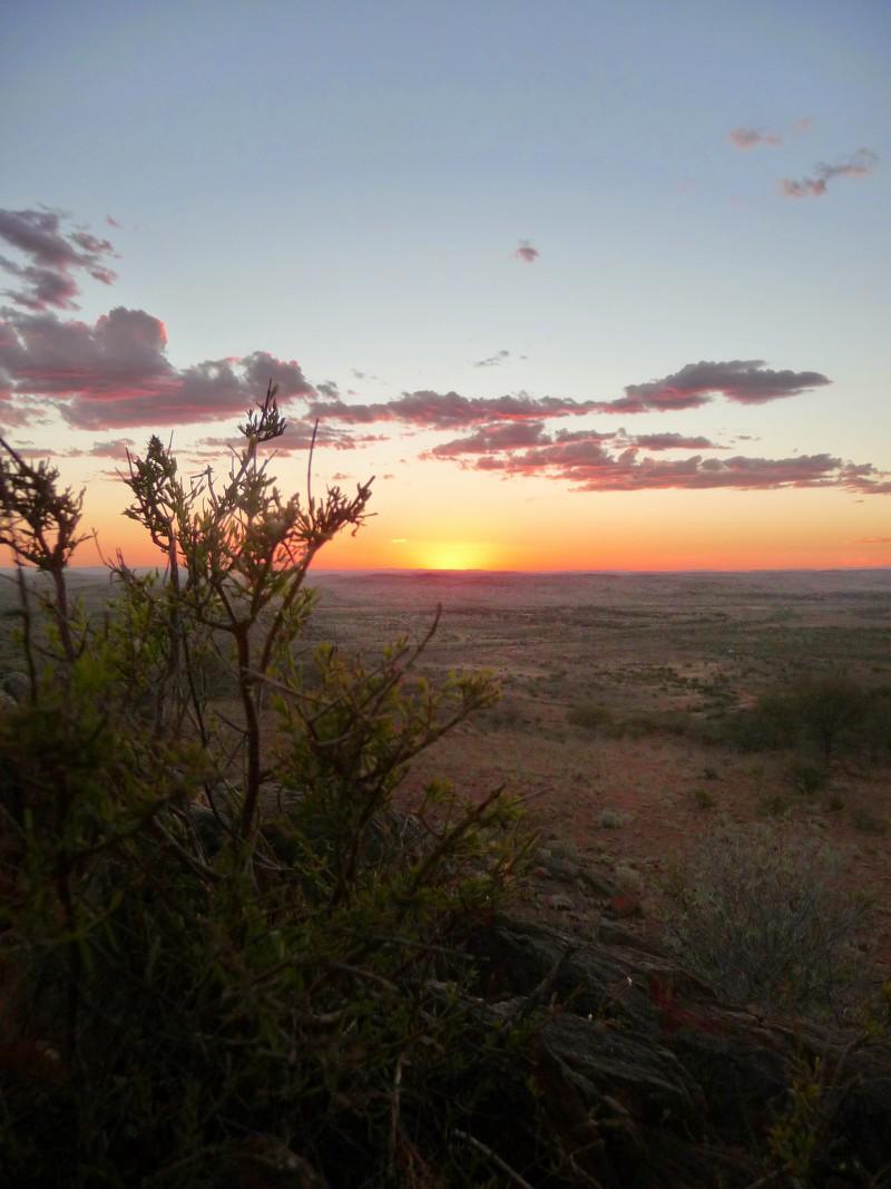 Sunset over the LivingDesert