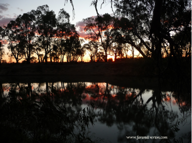 Sunset over the Murrumbidgee River