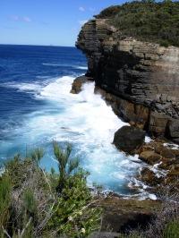 Siltstone cliffs, Devil's Kitchen, Tasmania
