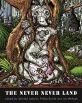 The Never Never Land Anthology book cover koala in tree