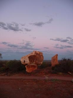 Sandstone horse sculpture