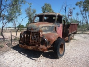 Old mining truck and windlass